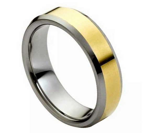Polished Shiny Gold Plated Center & Low Beveled Edge